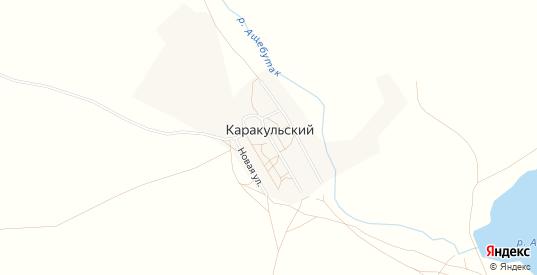 Карта поселка Каракульский в Оренбургской области с улицами, домами и почтовыми отделениями со спутника онлайн