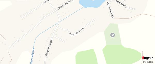Запрудная улица на карте села Имангулово Башкортостана с номерами домов
