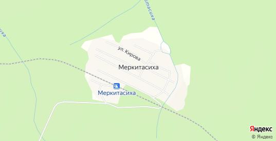 Карта поселка Меркитасиха в Первоуральске с улицами, домами и почтовыми отделениями со спутника онлайн