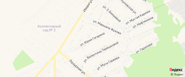 Улица Юрия Гагарина на карте Учалы с номерами домов