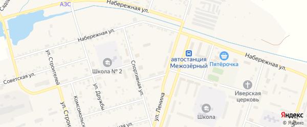 Северный переулок на карте Межозерного поселка с номерами домов