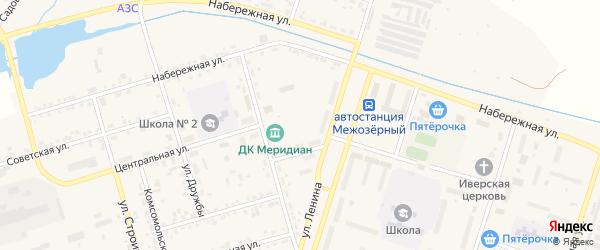 Улица Зубайдуллина на карте Межозерного поселка с номерами домов