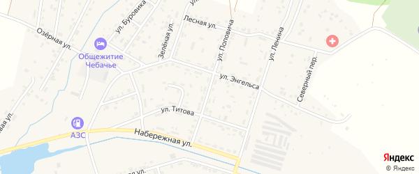 Улица Поповича на карте Межозерного поселка с номерами домов