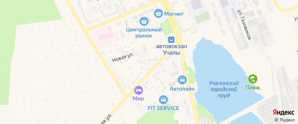 Привокзальный переулок на карте Учалы с номерами домов