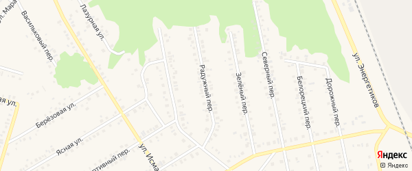 Радужный переулок на карте Учалы с номерами домов