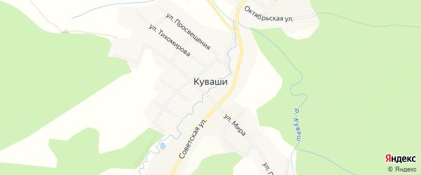 Карта села Куваши города Златоуста в Челябинской области с улицами и номерами домов