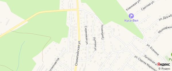 Сиреневая улица на карте Кусы с номерами домов
