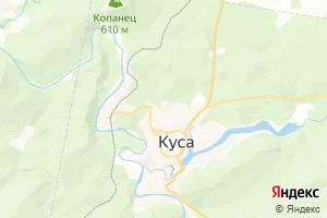 Карта г. Куса Челябинская область