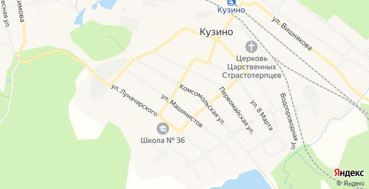 Карта поселка Кузино в Первоуральске с улицами, домами и почтовыми отделениями со спутника онлайн
