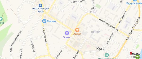 Улица Михаила Бубнова на карте Кусы с номерами домов