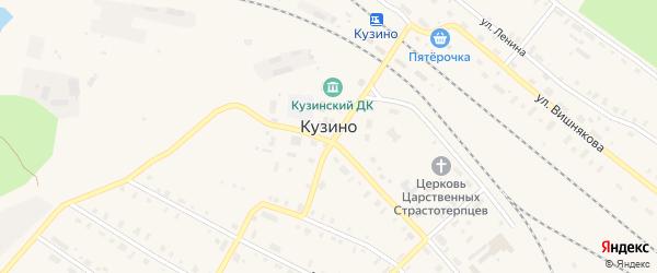 Белореченская улица на карте поселка Кузино с номерами домов
