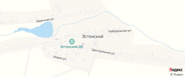 Центральный переулок на карте Эстонского поселка с номерами домов