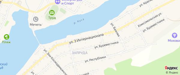 Улица 3 Интернационала на карте Кусы с номерами домов