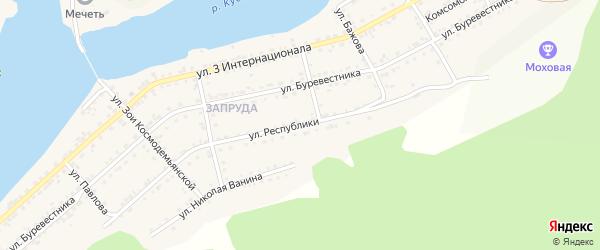 Улица Республики на карте Кусы с номерами домов