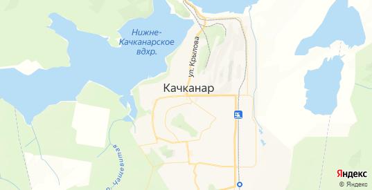 Карта Качканара с улицами и домами подробная. Показать со спутника номера домов онлайн