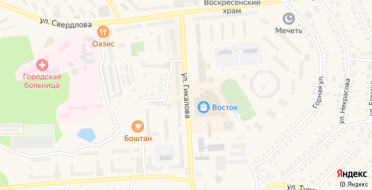 Улица Гикалова в Качканаре с номерами домов на карте. Спутник и схема онлайн