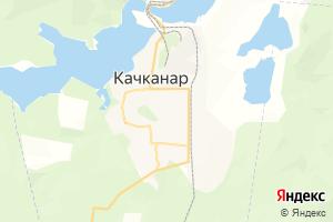 Карта г. Качканар Свердловская область