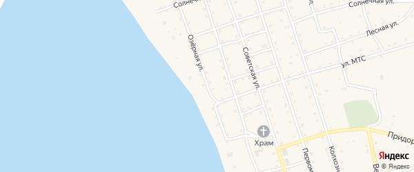 Озерная улица на карте Карагайского поселка Челябинской области с номерами домов