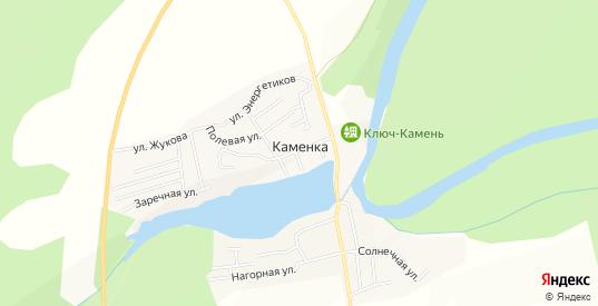 Карта деревни Каменка в Первоуральске с улицами, домами и почтовыми отделениями со спутника онлайн