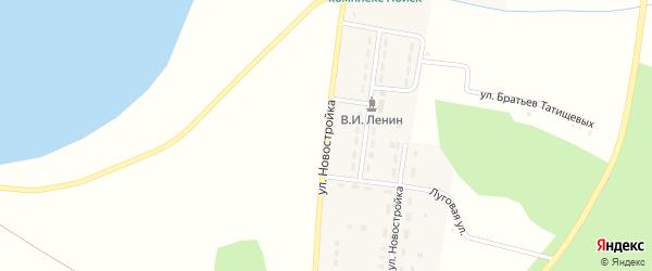 Улица Новостройка на карте Карагайского поселка Челябинской области с номерами домов
