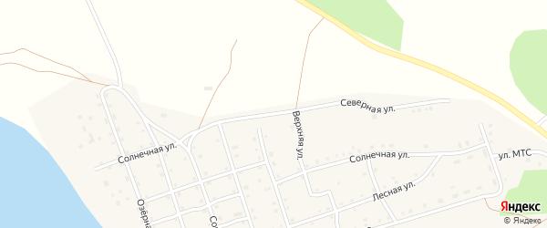 Северная улица на карте Карагайского поселка Челябинской области с номерами домов