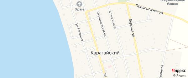 Советская улица на карте Карагайского поселка Челябинской области с номерами домов