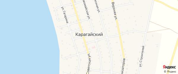 Садовая улица на карте Карагайского поселка с номерами домов