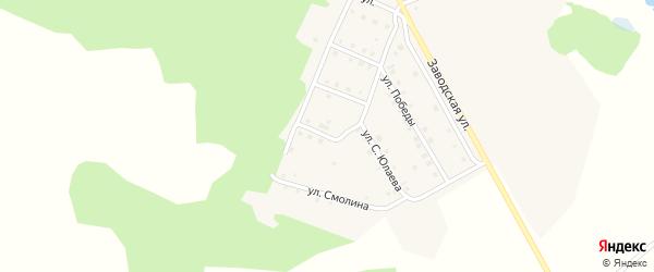 Улица Шаймуратова на карте деревни Мансурово Башкортостана с номерами домов