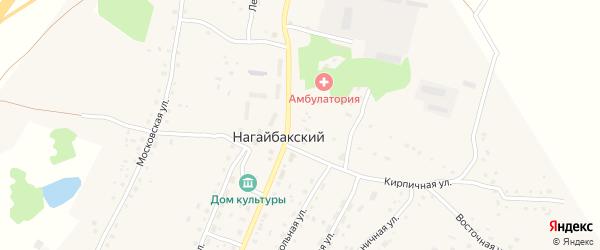Кирпичная улица на карте Нагайбакского поселка с номерами домов