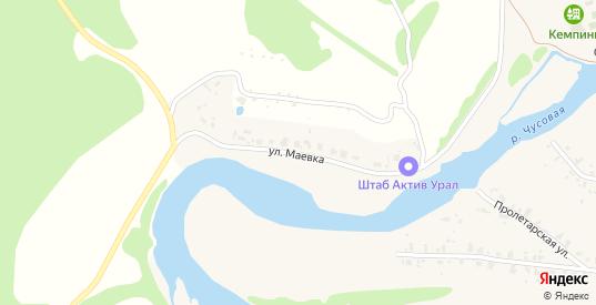 Улица Маевка в селе Слобода в Первоуральске с номерами домов на карте. Спутник и схема онлайн