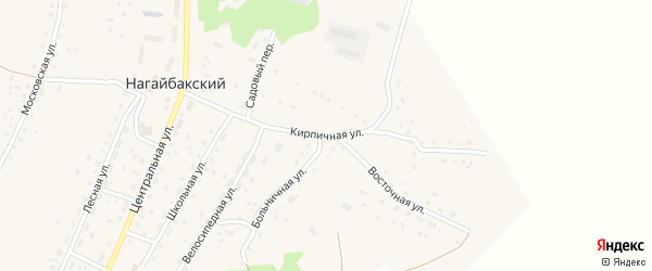 Кирпичная улица на карте Нагайбакского поселка Челябинской области с номерами домов