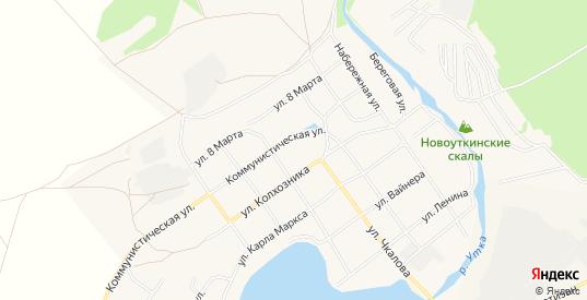 Карта поселка Новоуткинск в Первоуральске с улицами, домами и почтовыми отделениями со спутника онлайн