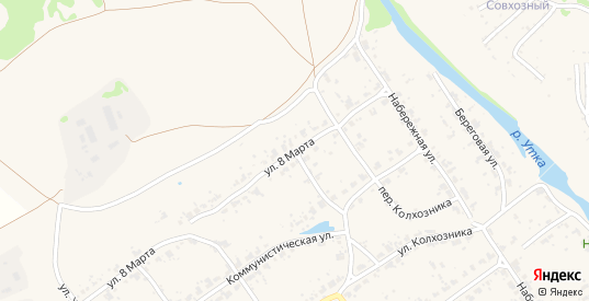 Улица 8 Марта в поселке Новоуткинск в Первоуральске с номерами домов на карте. Спутник и схема онлайн