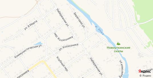 Набережная улица в поселке Новоуткинск в Первоуральске с номерами домов на карте. Спутник и схема онлайн