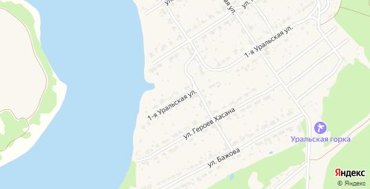 Уральская 1-я улица в поселке Новоуткинск в Первоуральске с номерами домов на карте. Спутник и схема онлайн