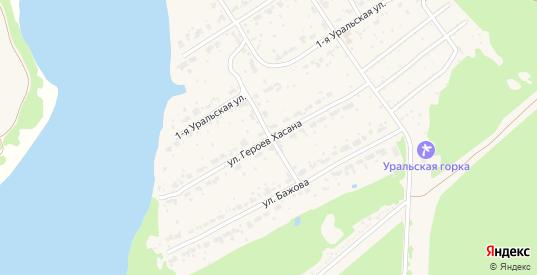 Улица Героев Хасана в поселке Новоуткинск в Первоуральске с номерами домов на карте. Спутник и схема онлайн