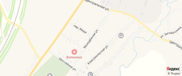 Молодежная улица на карте села Сафарово с номерами домов