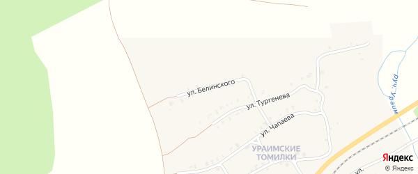Улица Белинского на карте Нязепетровска с номерами домов