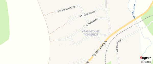 Улица Чапаева на карте Нязепетровска с номерами домов