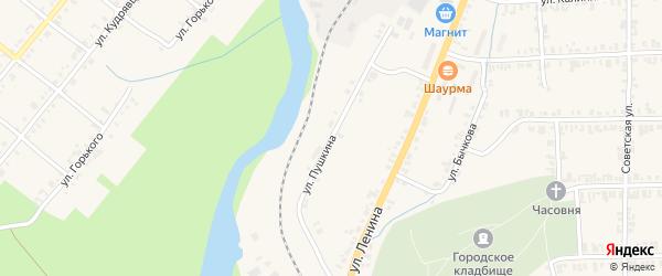 Улица Пушкина на карте Нязепетровска с номерами домов