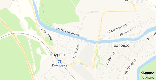 Карта поселка Коуровка в Первоуральске с улицами, домами и почтовыми отделениями со спутника онлайн