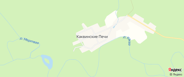 Карта поселка Каквинские Печи города Карпинска в Свердловской области с улицами и номерами домов