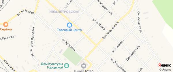 Улица Дзержинского на карте Нязепетровска с номерами домов