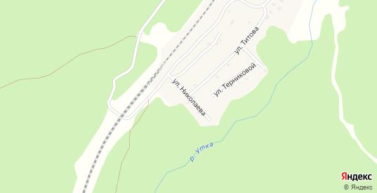 Улица Николаева в поселке Ильмовка в Первоуральске с номерами домов на карте. Спутник и схема онлайн