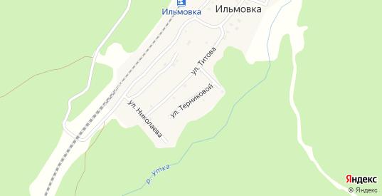 Улица Терниковой в поселке Ильмовка в Первоуральске с номерами домов на карте. Спутник и схема онлайн