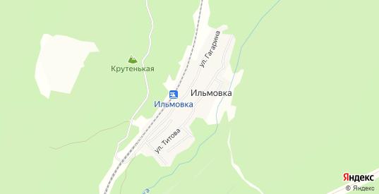 Карта поселка Ильмовка в Первоуральске с улицами, домами и почтовыми отделениями со спутника онлайн