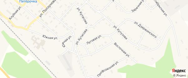 Луговая улица на карте Нязепетровска с номерами домов