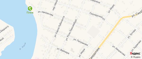 Улица Розы Люксембург на карте Нязепетровска с номерами домов