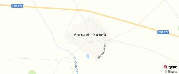 Карта Арасламбаевского поселка в Челябинской области с улицами и номерами домов