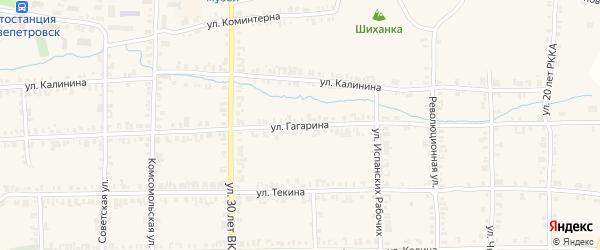 Улица Гагарина на карте Нязепетровска с номерами домов